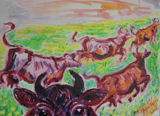Milkshake 2 - Akrylmålning av Bojan Krogh